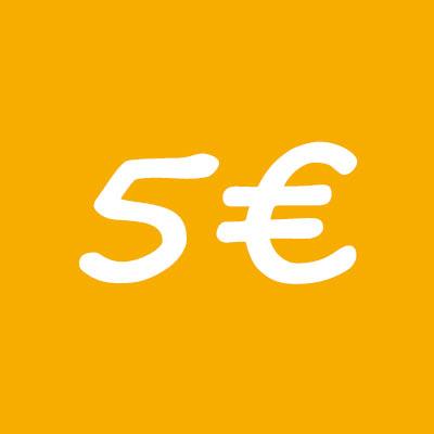 donacion 5 euros